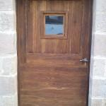 porte vernie fabrication bois